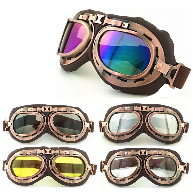 Boys Costume Accessories Trend Mark Wwii Vintage Motorcycle Goggles Racing Glasses Helmet Light Eyewear Pilot Retro Motocross Daft Punk Helmet Steampunk Accessories
