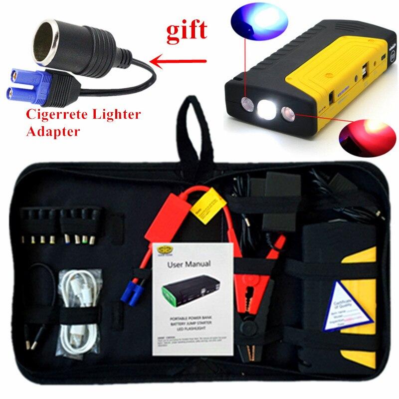 Многофункциональный пусковое устройство автомобиля джемпер 12 В 600A Портативный автомобиля Зарядное устройство для автомобиля Батарея Booster ...