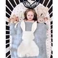 Детское Одеяло Мультфильм Кролик Трикотажные Одеяло Для Диван-Кровать Новорожденного Муслин Пеленание Одеяло Кролика Ручной Шерстяные Банные Полотенца