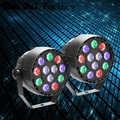 2 teile/los Hohe Qualität Disco Licht 12x3 W Led Par RGBW DMX LED Party Lichter Bühne Beleuchtung Wirkung STROBOSKOP STRAHL LASER Weihnachten