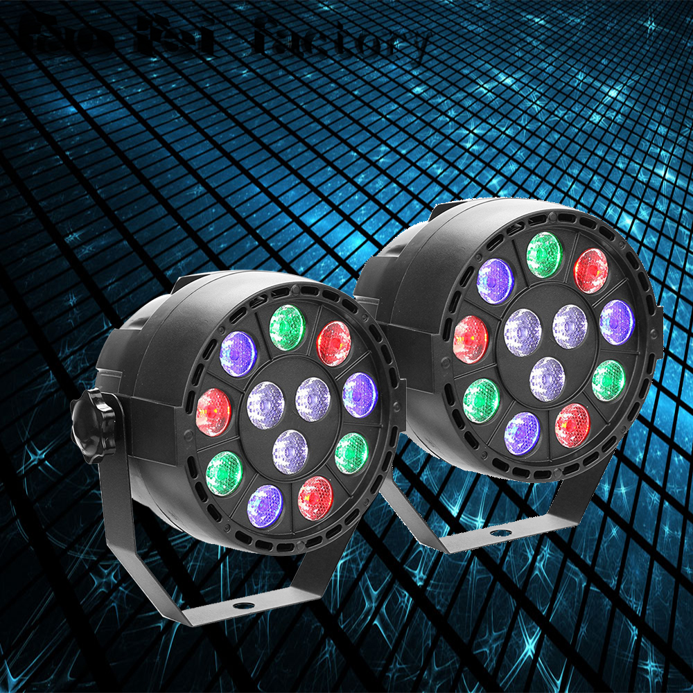 2pcs/lot High Quality Disco Light 12x3W Led Par RGBW DMX LED Party Lights Stage Lighting Effect STROBOSCOPE BEAM LASER Christmas
