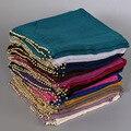 Мусульманские хиджаб шарфы длинные wrap платок женский платок