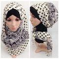 Мода элегантных женщин хлопок саржа шарф перо печати плюс большой размер Осень и Зима шаль палантины Мусульманское hijab бесплатная доставка