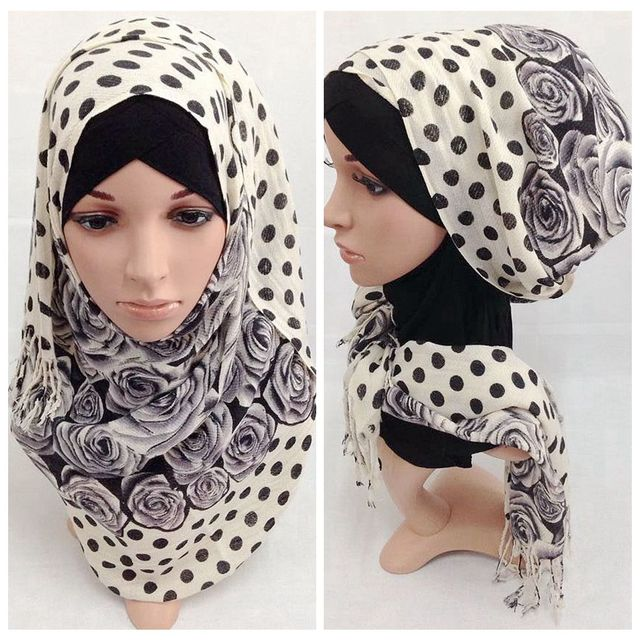 Manera de las mujeres elegantes de algodón sarga bufanda de plumas de impresión plus de gran tamaño Otoño e Invierno estolas mantón Musulmán del hijab del envío libre
