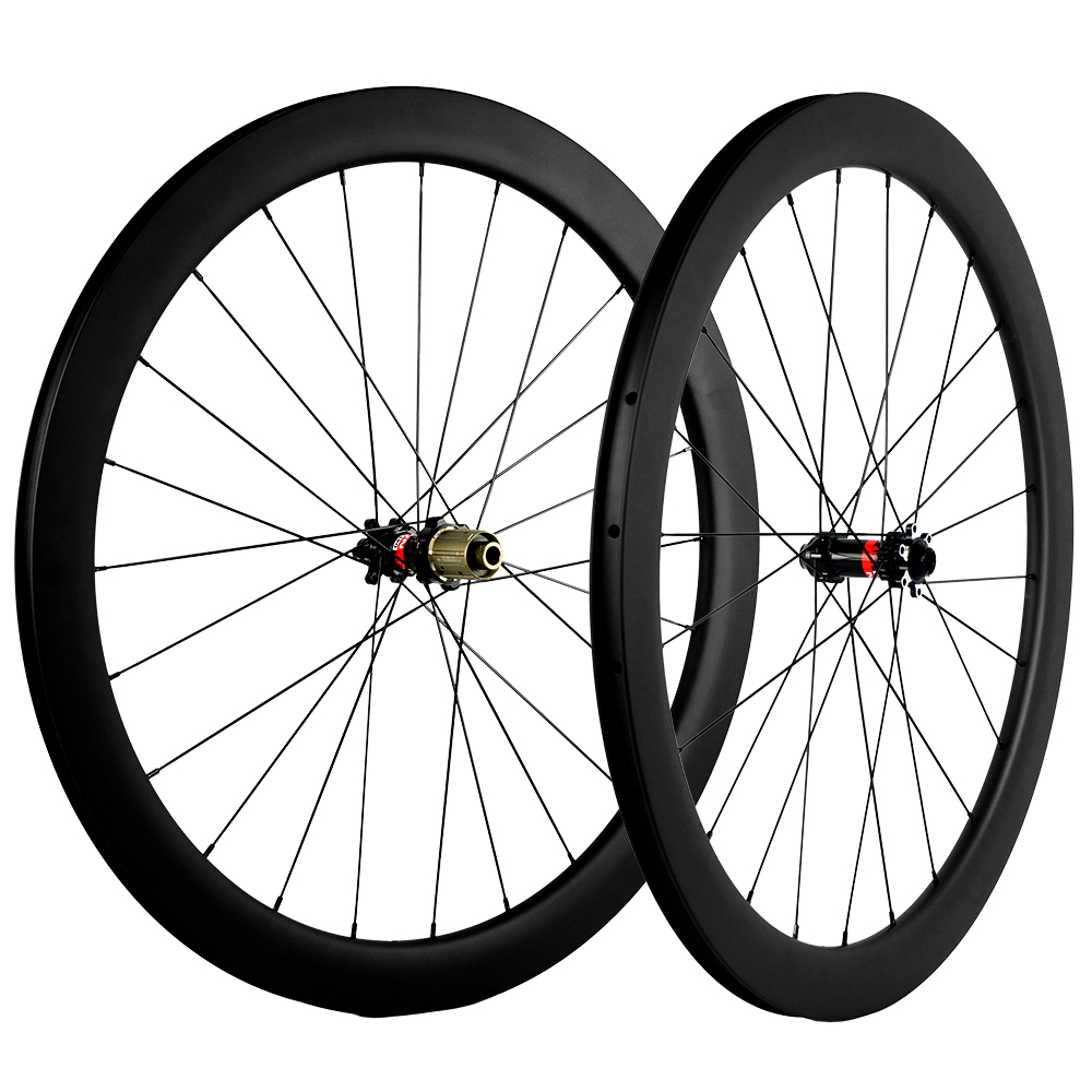 Disc Brake carbon wheels 700C T1000 bike carbon wheelset 50mm clincher matte black carbon disk brake