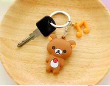 cute cat panda keychain rings key chains for men women men jewelry accessories gifts wj560(China)