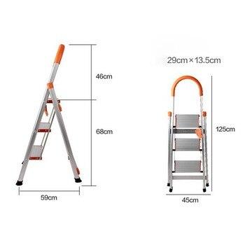 Foldable Non Slip 3 Step Steel Ladder tread Stepladder Safety Handrail Rail