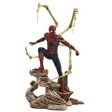 Galeria de arte da série Avengers: Infinito Guerra Estátua de Super Herói Homem-Aranha PVC Action Figure Toy Model Collection X614(China)