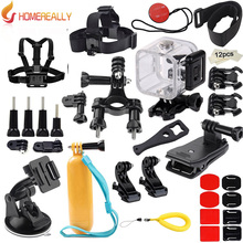 цена на GoPro Hero 5 Session Accessories Kit for Gopro Hero 5 4 3 SJCAM SJ4000 SJ5000 Bundles with Chest Harness Mount/Suction Cup Mount