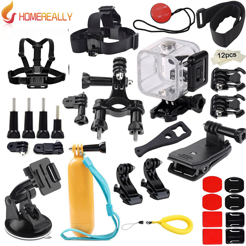 HOMEREALLY caméra accessoire Kit pour Gopro Hero 4 3 5 Session SJCAM SJ4000 SJ5000 faisceaux poitrine harnais montage ventouse