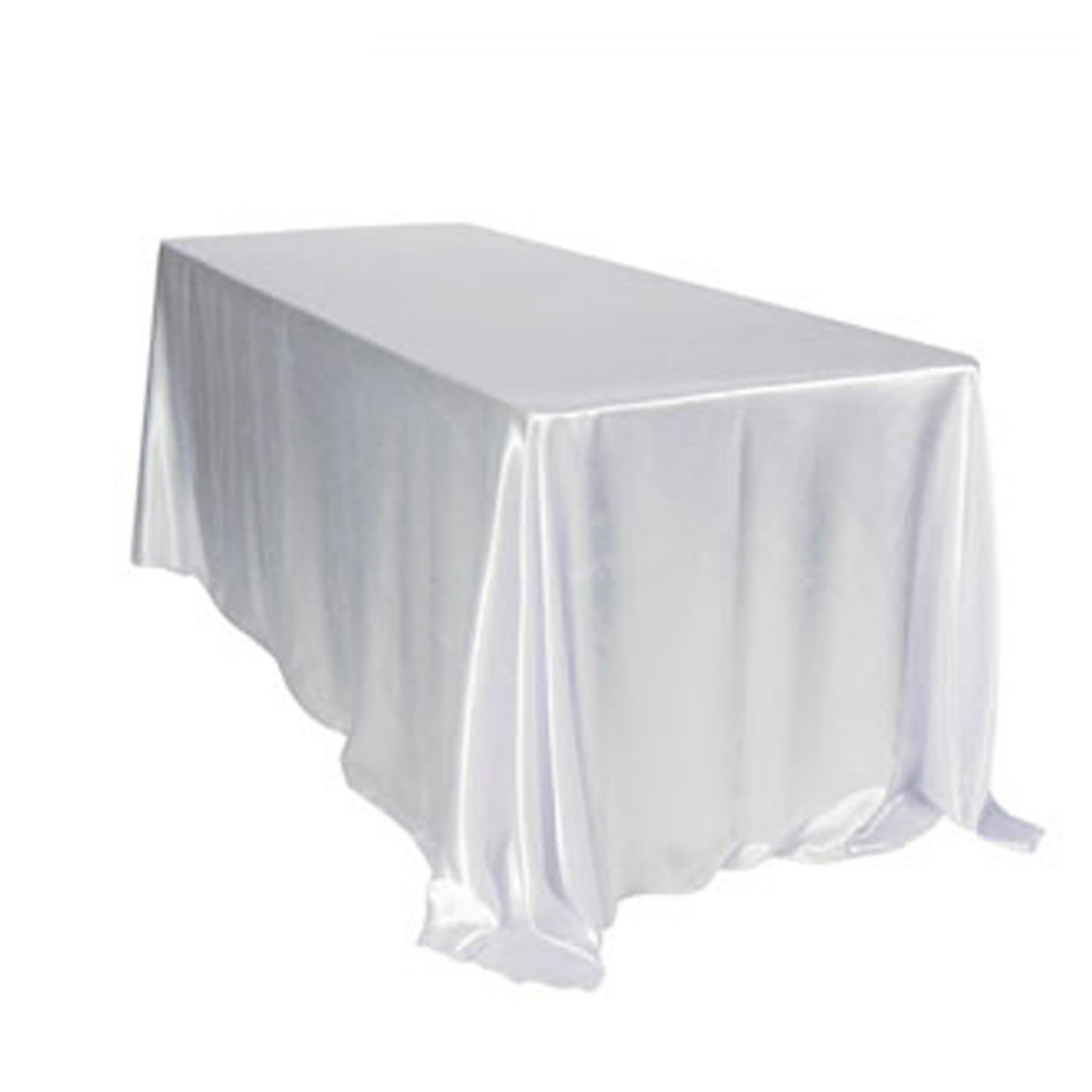 5pcs 228x335cm White/Black Table Cloth Polyester Wedding Table Cloth Rectangular Satin Tablecloth for Wedding Party Decorations-in Tablecloths from Home & Garden    1