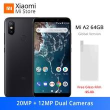 Küresel Sürüm Xiao mi mi A2 4 GB 64 GB Smartphone Snapdragon 660 Octa çekirdek 20MP Çift KAMERA 5.99