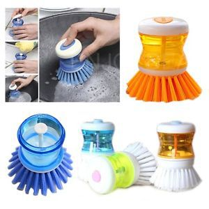 2pcs NEW Wash Tool Palm Brush Scrubber Cleaner Storing Washing UP Liquid H3