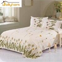 זול הדפסת גיליון שטוח מיטה להגדיר כיסוי מיטת 100% פוליאסטר עם שתי ציפות 160*230 ס