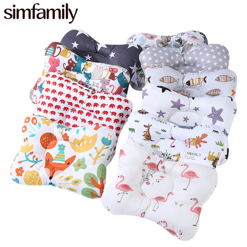 [simfamily] 100% Cotton Baby Pillow Newborn Baby Anti Flat Head Baby Sleep Pillow Baby Bedding Sleep Positioner Support Pillow