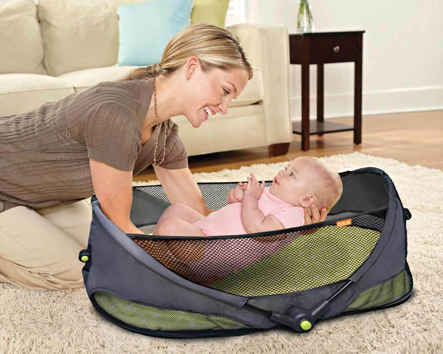 1pcs/lot Wholesale Brica Fold N Go Baby Folding Bed Cot Bed For baby Travel Outdoors Crib B709