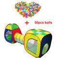 3 pcs Do Bebê Play House Cubby-Tube-Tenda Pop-up Jogar Tenda Túnel Crianças Crianças Casa de Aventura