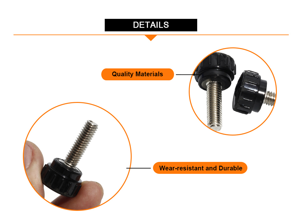Various Pack Sizes 19mm Dia 6mm Thumb Nut w Reinforced Knurled Head