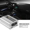 12 V DC a AC 220 V 50 HZ Sinusoidal Pura Energía Auto Del Coche Adaptador del inversor del Convertidor del Adaptador 200 W USB Cargador de Coche 400 W de Potencia Máxima 1 UNIDS