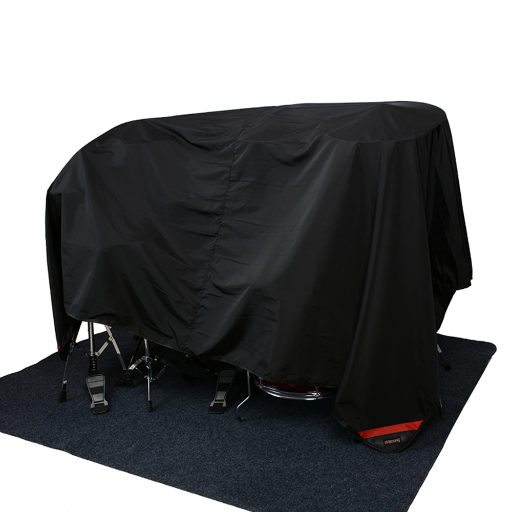MoonEmbassy 80 X 108 Inch Drum Set Dust Cover Water-Resistant Nylon Cover With Sewn-in Weighted Corners