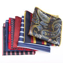 цена на Men Handkerchief bowtie party Floral Jacquard Pocket Square Wedding Necktie Vintage Hankies for Pocket Towel Business Tie