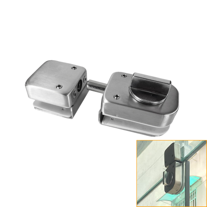 Stainless Steel,Glass Door Latches Lock/Bolt,138A ,Without Drilling,For Double Glass Door, Frameless Glass Door