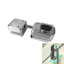 Stainless Steel,Glass Door Latches Lock/Bolt,138A ,Without Drilling,For Double Glass Door, Frameless Glass Door цена