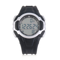 P3158 Intelligent Outdoor 3D Pedometer Acrylic Glass Watch LED Display Silver Free Shipping