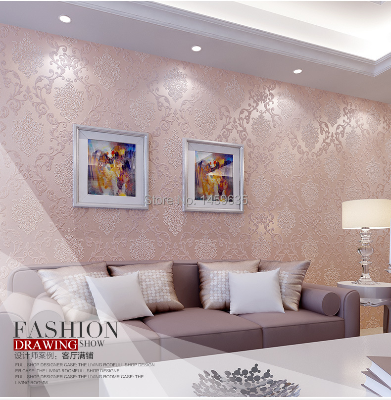 Luxury Modern 3D Embosswed Background Wallpaper For Living Room Pink Blue Cream White Roll Wall Paper Papier Peint In Wallpapers From Home