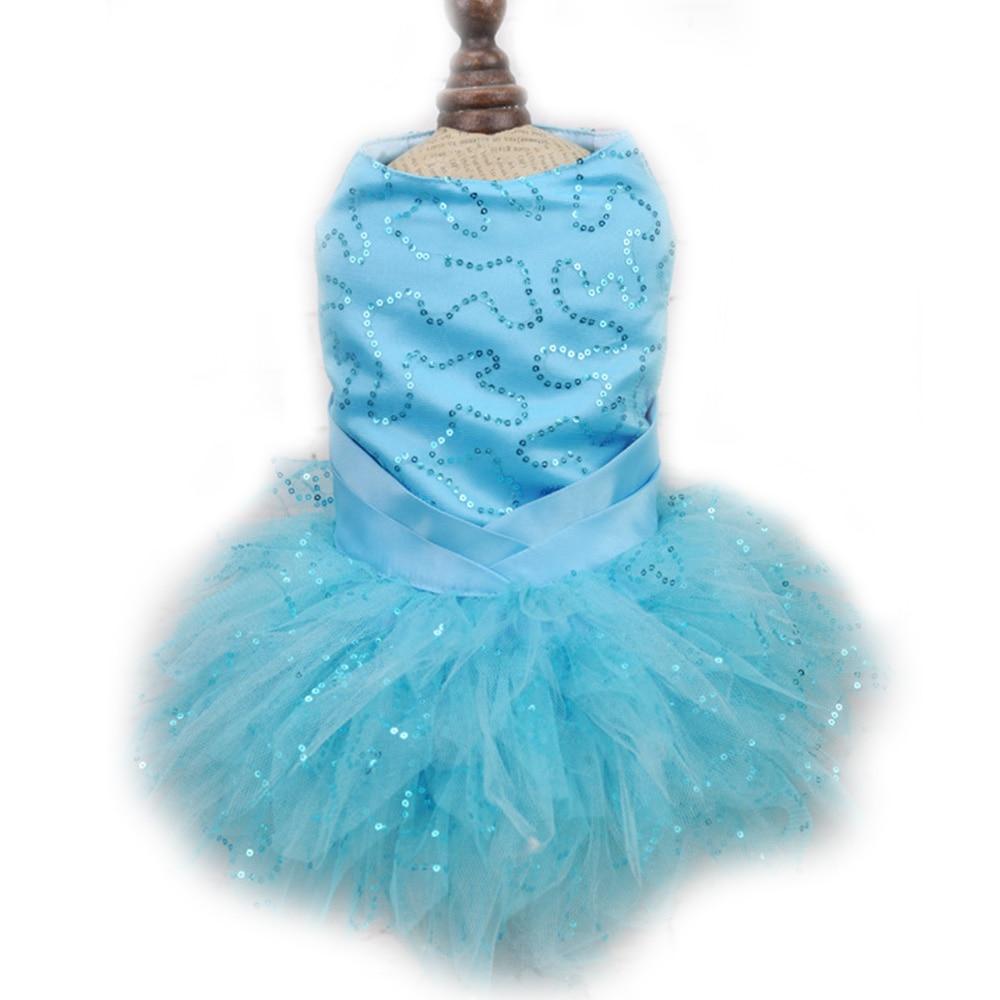 Bling White lace Dog puppy luxury dress pet cat Tutu skirt Princess ...