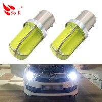 2PCS 1156 BA15S P21W White Light Reverse Light Car Auto Turn Signal Lights Backup Reverse Bulb