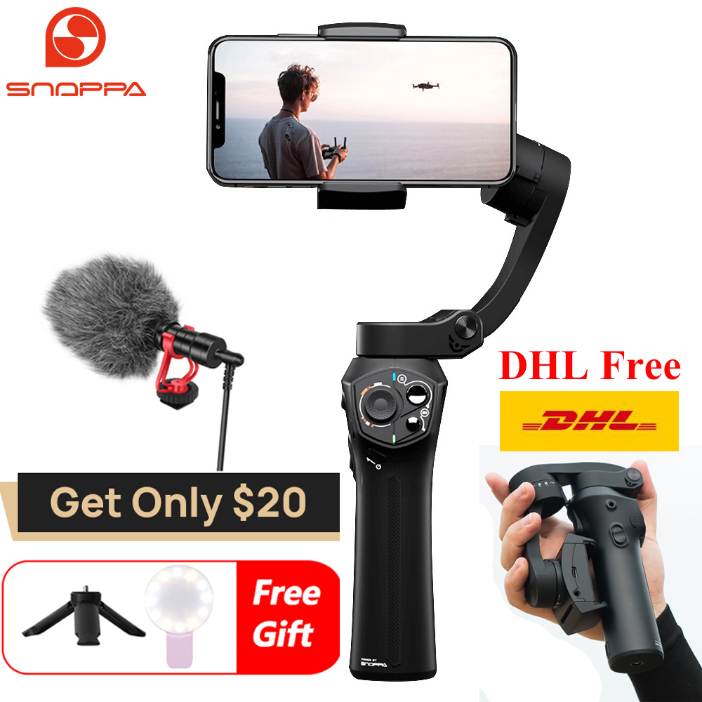 Snoppa Atom 3 Axis Handheld Gimbal Smartphone Stabilizer for iPhone X Gopro 6 7 Action Cam