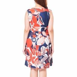 Summer New Flower Print Sleeveless Dress Women Empire Fit and Flare Dresses Plus Size L-3XL Fashion Vestidos Femme 4