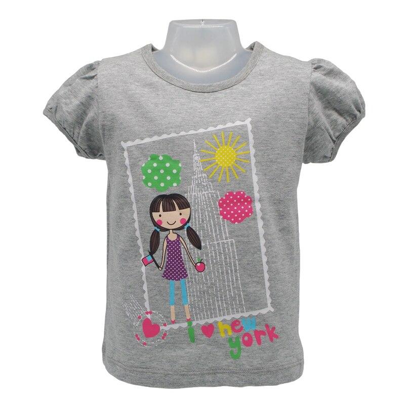 18M-6T Brand Kids Baby Boys Girls T-Shirt Summer Short Sleeve Tops Children's Clothing Cartoon Tees Girl And Dog Creative Tshirt