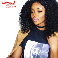 Sunny Queen Brazilian Hair Weave Bundles 10 26 Nature Color Kinky Curly Virgin Human Hair Extensions