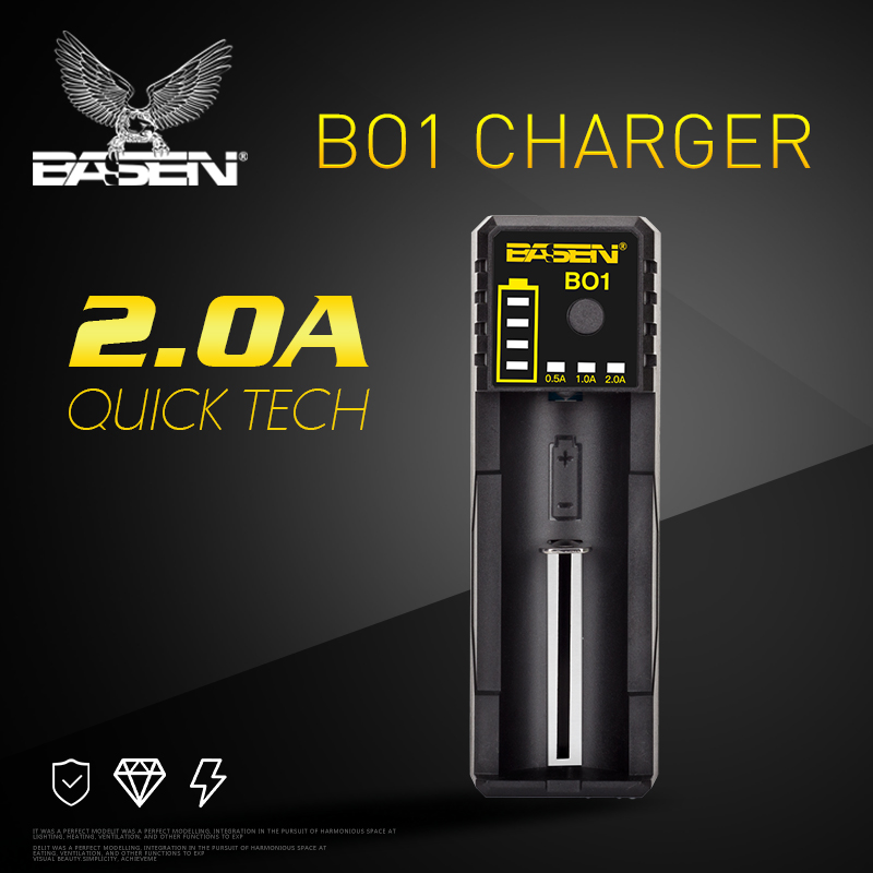Basen Electronics Charger For Battery Usb Output 18650 5V/2A Smart Lcd Usb Battery Charger For 18650
