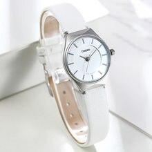 788058073382 Time100 Mujeres Simples Reloj de Negocio ultrafino Dial Negro Blanco Café  Correa de Cuero Cuarzo de