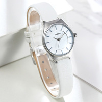 Time100 Simple Women Watch Business ultrathin Dial Black White Coffee Leather Strap Ladies Quartz Wrist Watches relogio feminino
