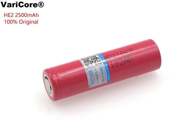 1PCS Original 18650 3.7V 2500mAh HE2 IMR18650 Rechargeable high drain battery,max 20A 35A discharge For LG E-cigarette batteries