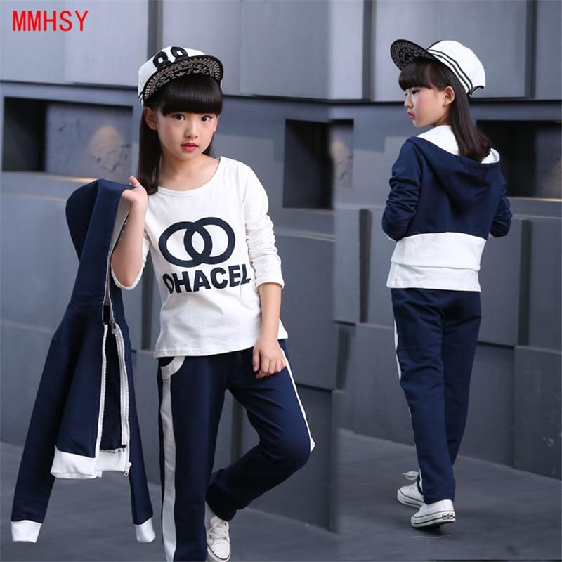 MMHSY Meisjes Kleding Sets 2017 Mode Stijl Kinderkleding Sets Lange - Kinderkleding - Foto 3