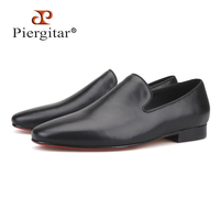 2016 new arrival Handmade men Genuine Leather shoes British style men Wedding dress shoes Prom and Banquet male's loafers flats