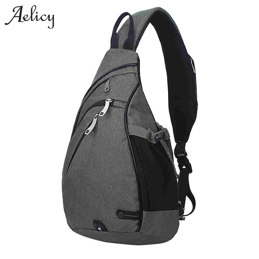Messenger Bag Men Nylon Multipurpose Chest Pack Sling Shoulder Bags For Men Casual Crossbody Bolsas Gray Small
