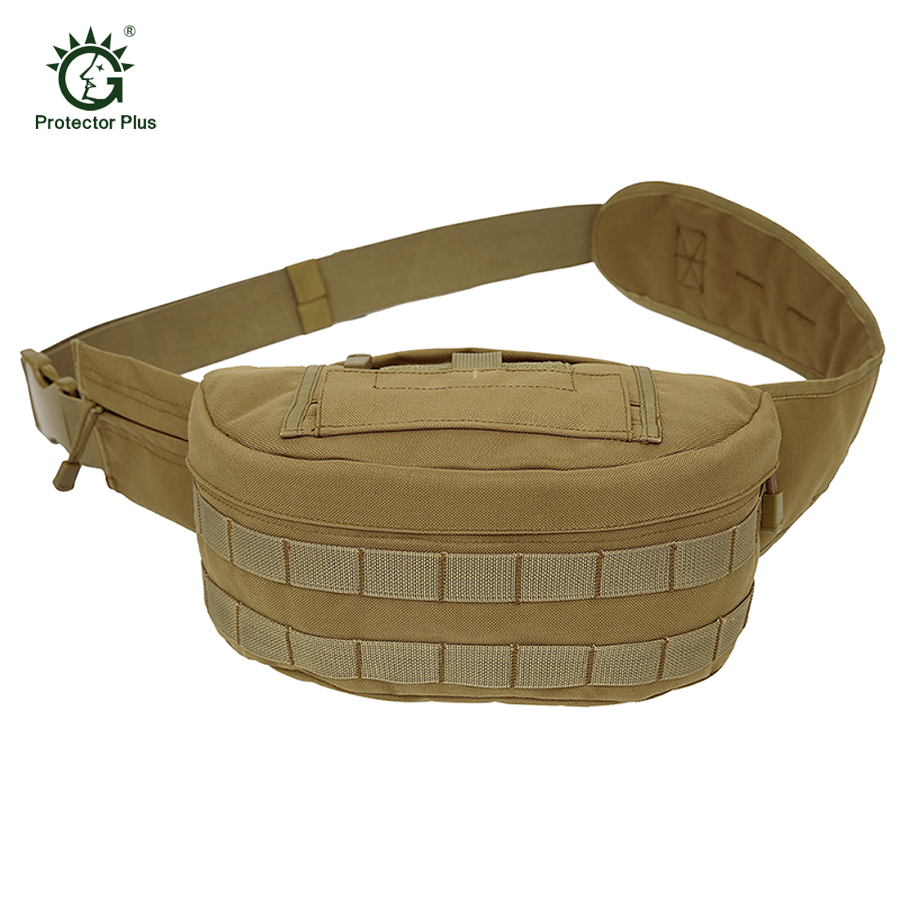 Protector Plus High Quality Nylon Waist Pack Belt Bag Men Tactical Military Chest Packs Camouflage Waist Bags Outdoor Travel Bag women s nylon multifunction travel bags funny chest pack men waist pack hiqh quality waist bag unisex shoulder bag bolso cintura