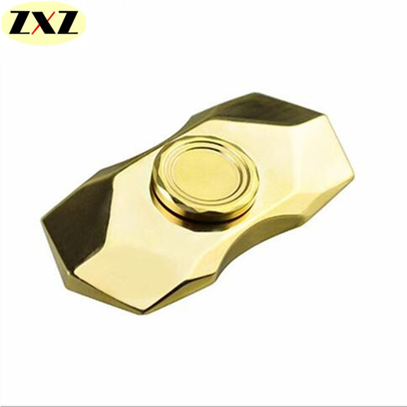 New exquisite diamond modelling fidget spinner EDC toy hand spinner brass ADHD adults educational toy The