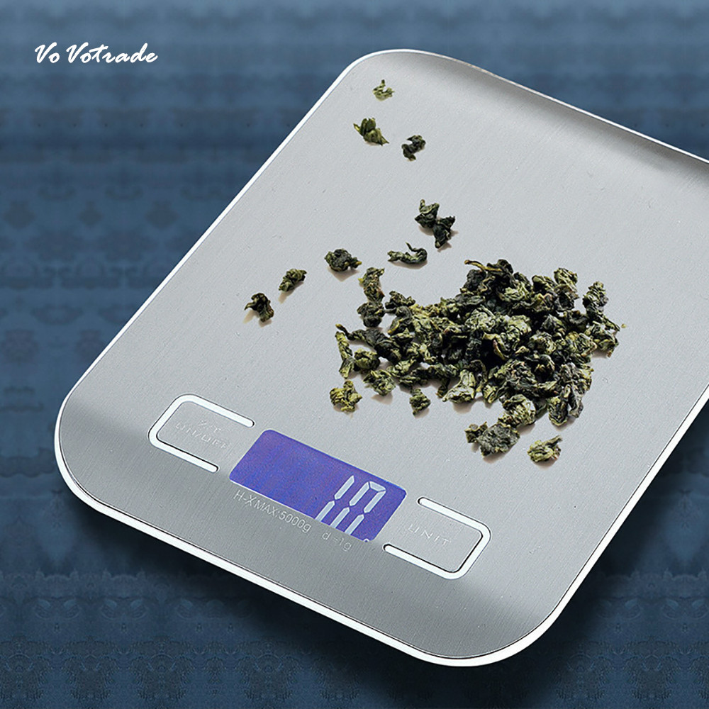5000g/1g Digital Scale Measure Tools Stainless Steel Electronic Weight LCD Electronic Bench Weight Scale New Electronic Weight