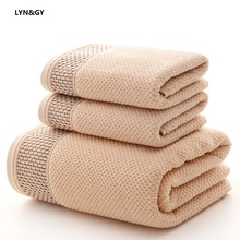 LYN&GY Honeycomb Breathable Cotton Fabric Towel Set 1PC Bath towels for adults child 2pcs Face Bathroom 3 pieces