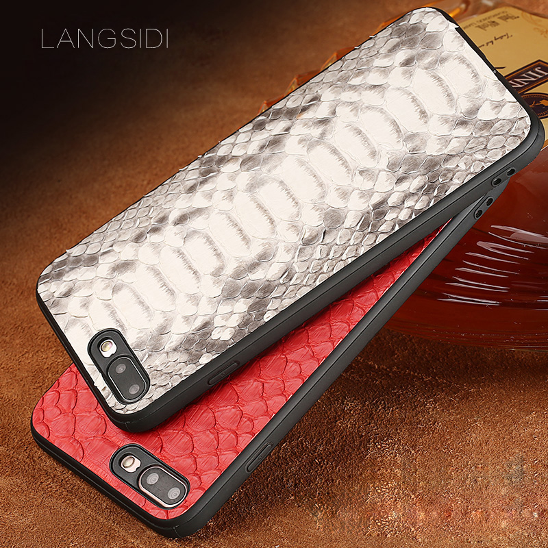 wangcangli phone case For iPhone 7 Real Calf leather Back Cover Case/natural python skin Leather Casewangcangli phone case For iPhone 7 Real Calf leather Back Cover Case/natural python skin Leather Case