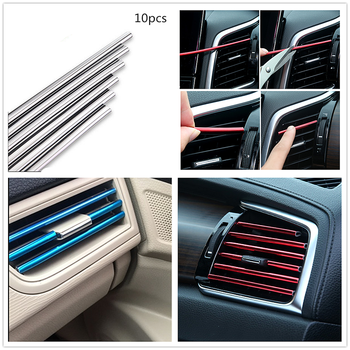 Car Air Vent Grille cover Rim Outlet decor Strip for Subaru Forester Ascent XV WRX VIZIV Outback Legacy Impreza Crosstrek image