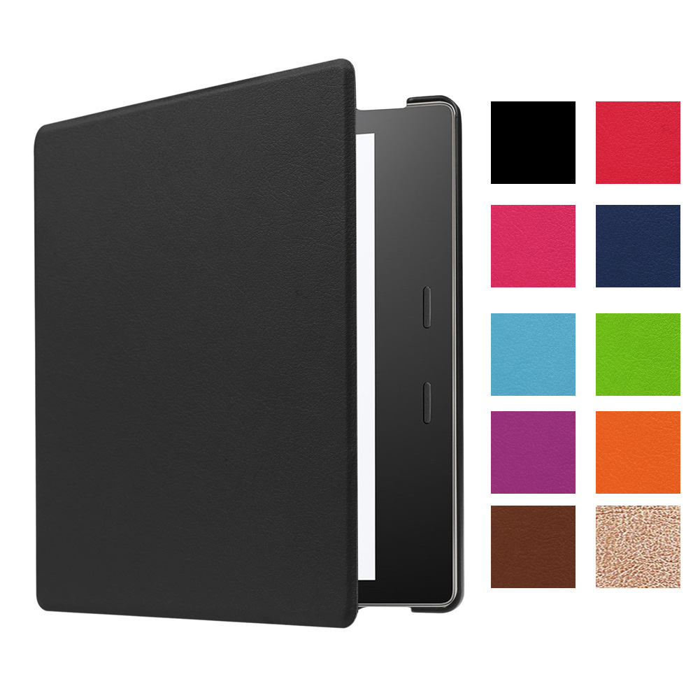 New Poratable 360 degree full surround For Amazon Kindle Oasis 7 2017 Foldable Stand PU Leather Smart Case Cover Skin for amazon 2017 new kindle fire hd 8 armor shockproof hybrid heavy duty protective stand cover case for kindle fire hd8 2017