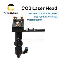 CO2 Laser Head 101 6mm Focal Focus Lens 20mm Reflective Mirror 25mm Integrative Mount Laser Engraving